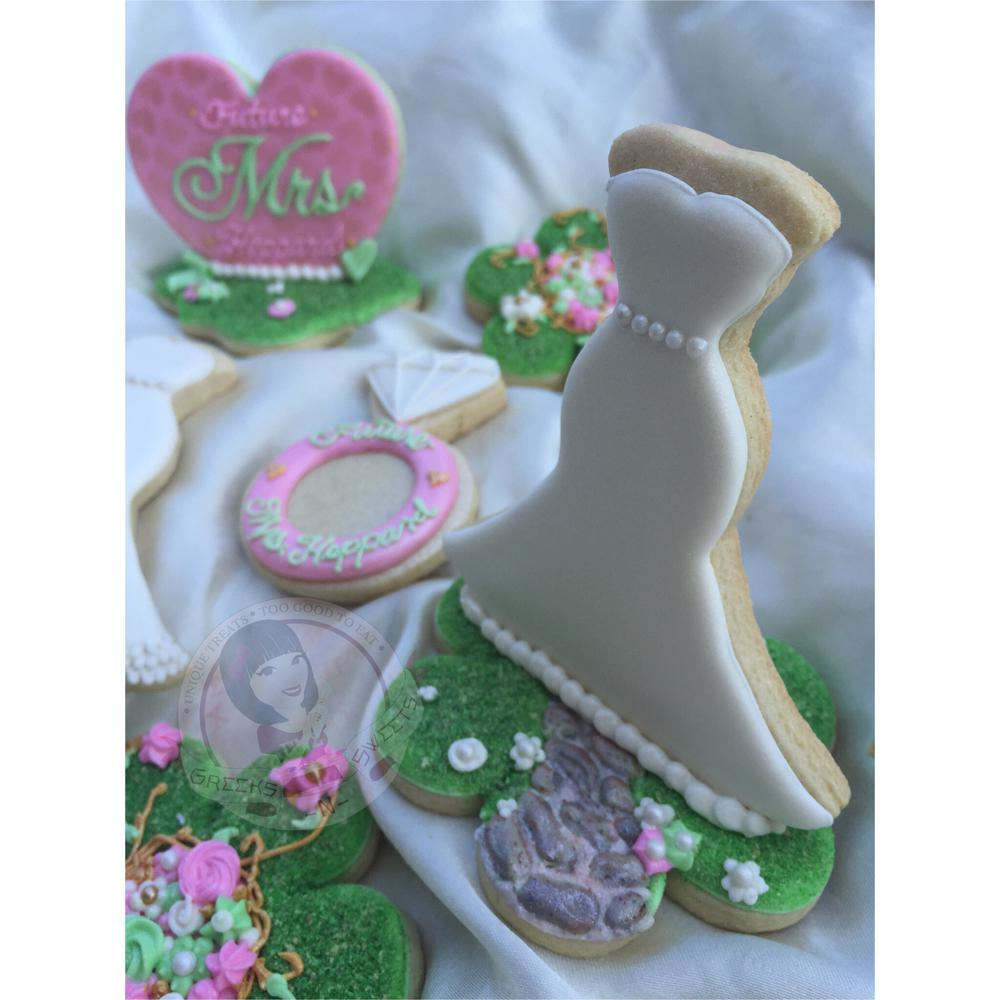 Free Standing Bridal Shower Cookie - Greeks-N -Sweets