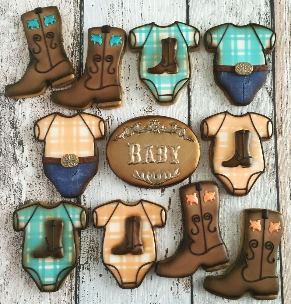 Cowboy Baby Shower Cookies Cookie Connection