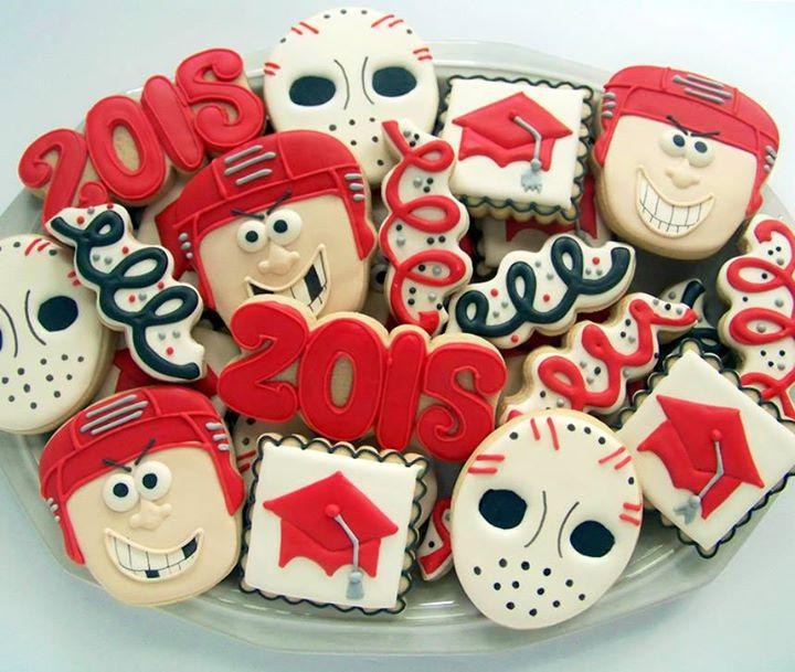 Hockey Graduation Cookies