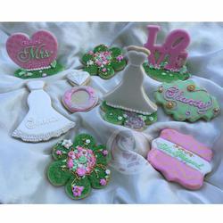 Secret Garden Bridal Shower Cookies - Greeks-N-Sweets