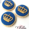 Classic Gold Crown Cookies
