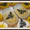 Mason Honey jars and bees