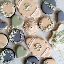 Shabby initials cookies