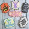 Random Stenciled Cookies