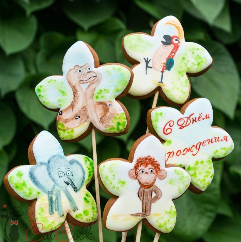 Gingerbread caketopper_Soviet cartoon_38 parrots