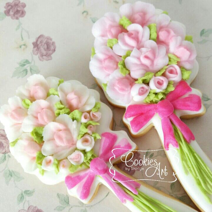 wedding cookie bouquet bouquet with flat ri cookie connection 8962