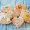 Baby girl cookie set