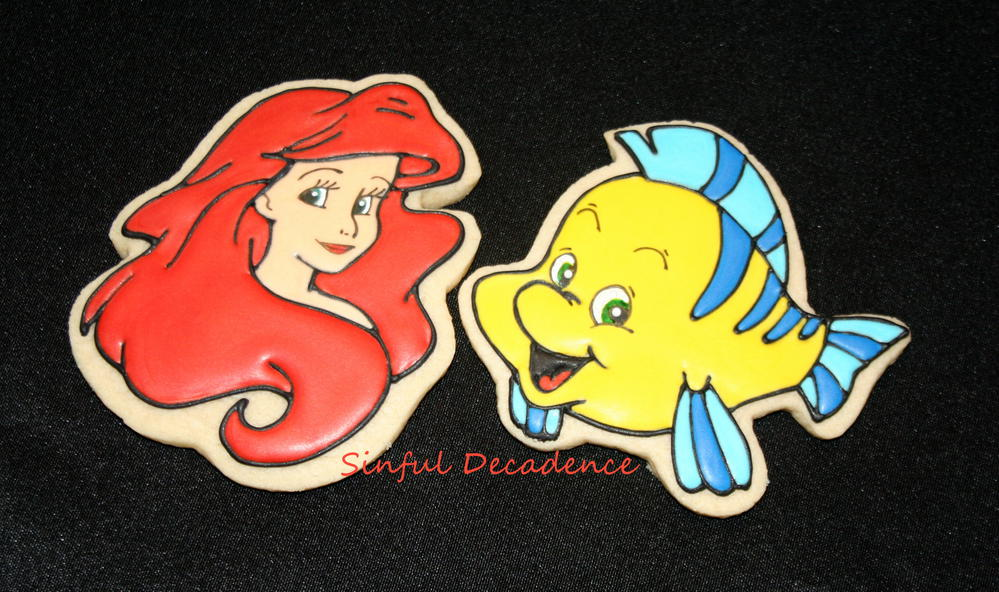 Disney\'s Little Mermaid - Ariel and Flounder | Cookie Connection