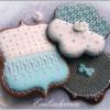Sky blue cookies