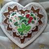 """Gingerbread Heart """"Khokhloma"""""""