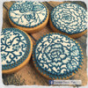 Blue and white (porcelain) patterned cookies