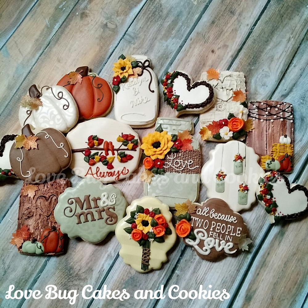 Wedding Themed Sugar Cookies Decorated