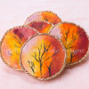 How to Decorate Edible Hand Paint Autumn Sunset Cookies