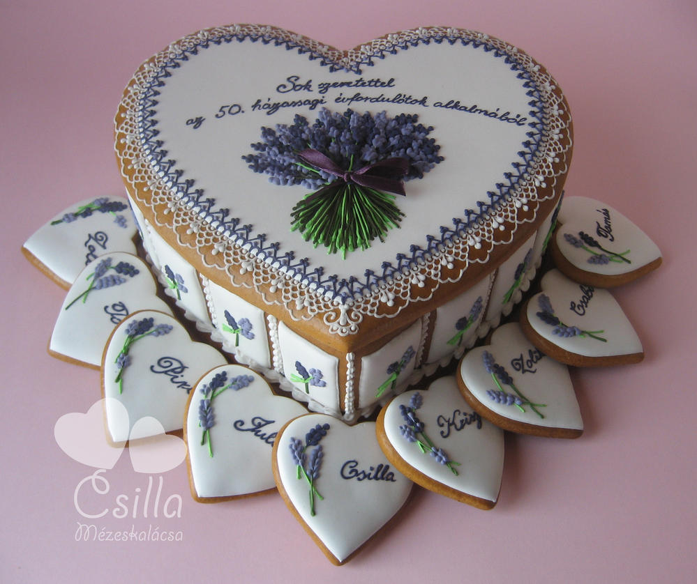 Gingerbread Box with Lavender