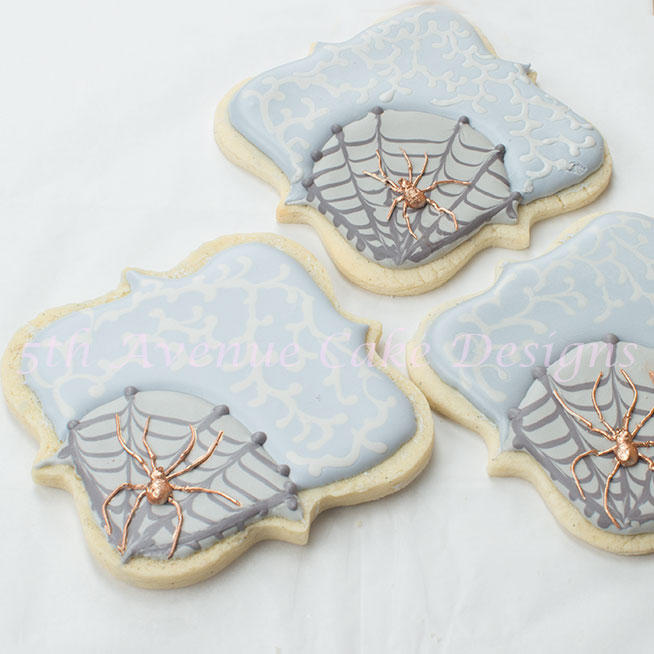 Spooky Spider and Web Cookies