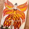 Autumn Fairy - Handpainted with edible oil colors