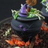 Cauldron with Lid On: Cookie and Photo by Julia M Usher