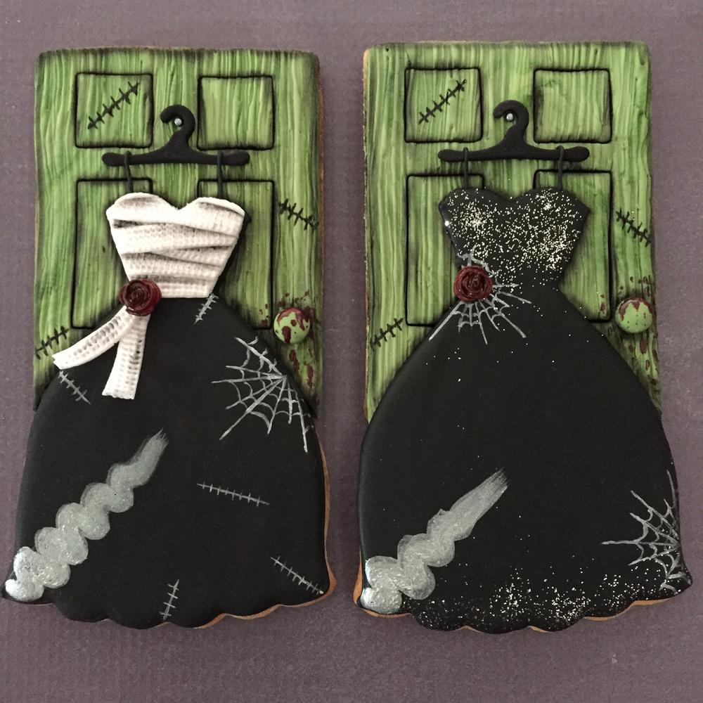 Halloween Wedding Dresses Bride Of Frankenstein Cookie Connection