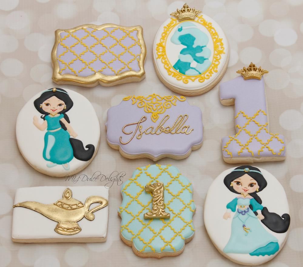 Princess Jasmine 1st Birthday Cookies Cookie Connection
