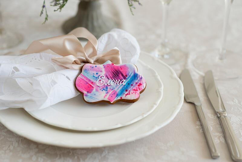 Handpainted Wedding Gingerbread Cookies