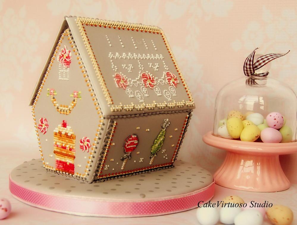 Gingerbread lollipop house