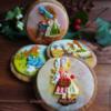 Autumn handpainted gingerbread Holly Hobbies cookies