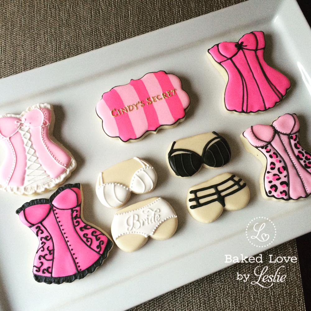 Bachelorette Party Lingerie Cookies - Baked Love by Leslie