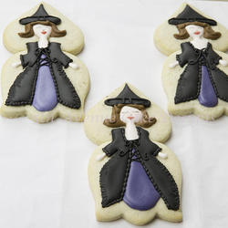 Decorated Witch Cookies
