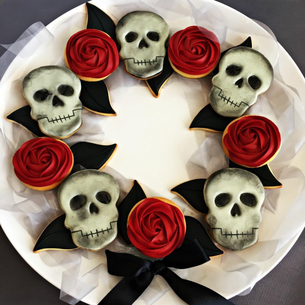 Halloween Cookie Wreath