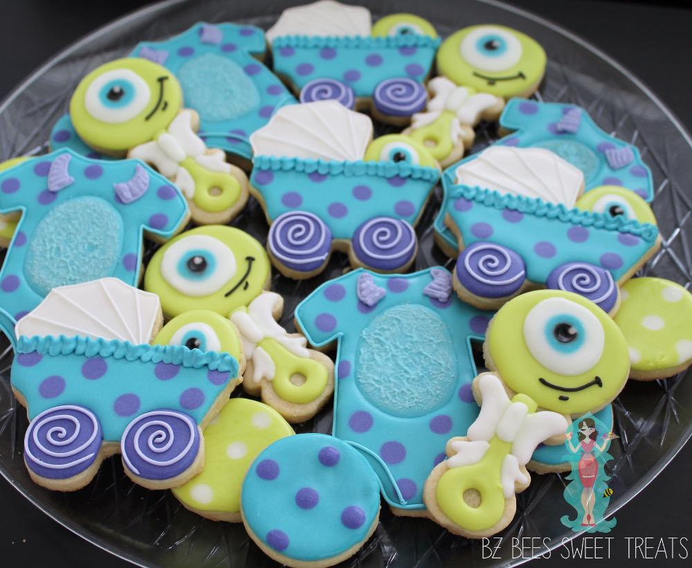 Monster Inc Baby Shower Decorations Monsters Inc Baby Shower Cookie Connection