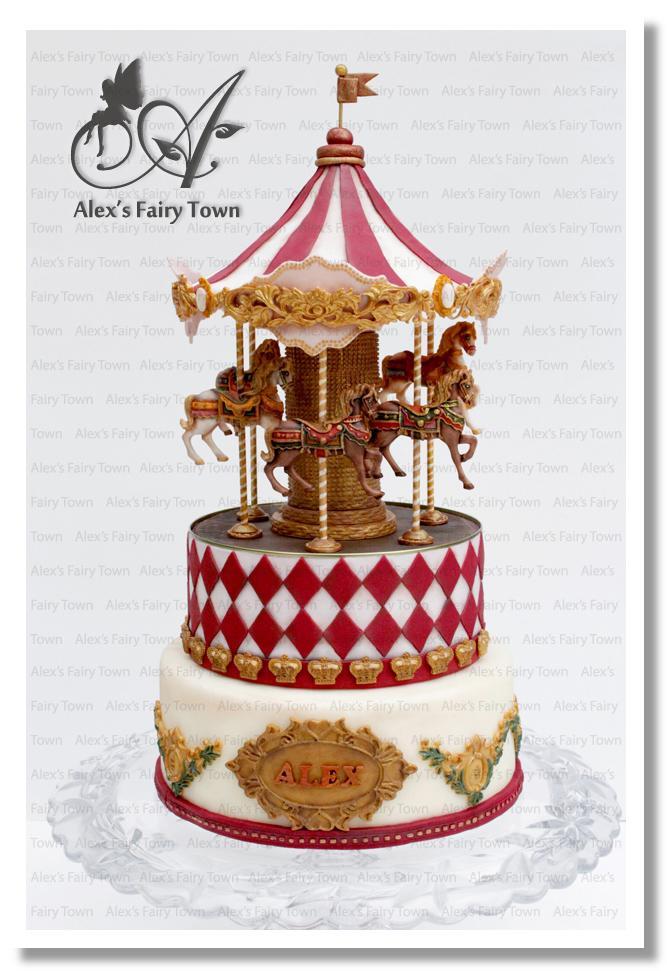 Vintage Merry-Go-Round Cake