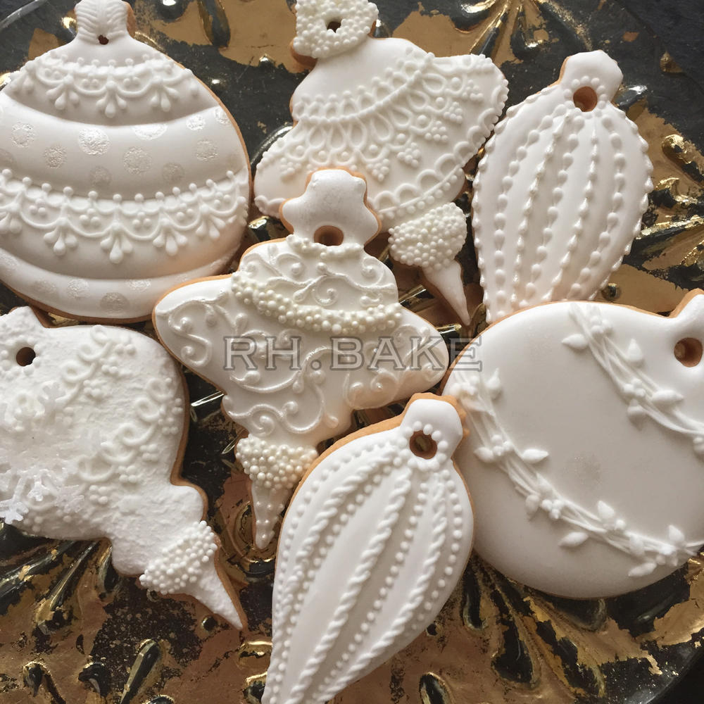 White christmas decorations - White Christmas Ornaments