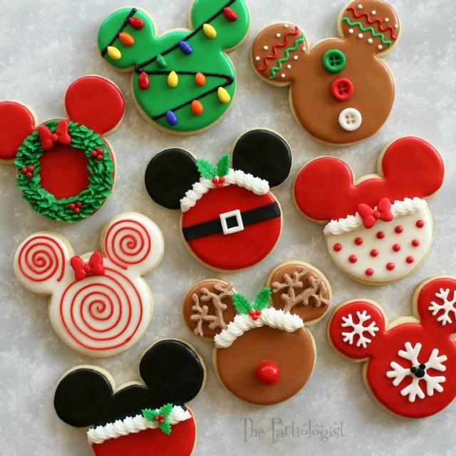 christmas themed mickey mouse cookies cookie connection