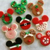 Christmas Themed Mickey Mouse Cookies
