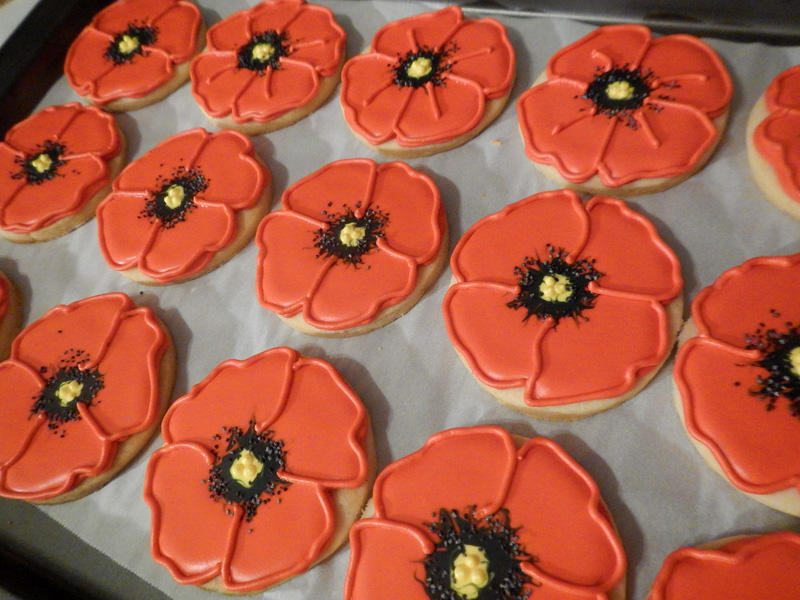 Remembrance Day Poppies by Sweethart Baking Experiment