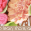 Floral Banner: Cookies and Photo by Julia M Usher, Banner by Pretty Sweet Designs