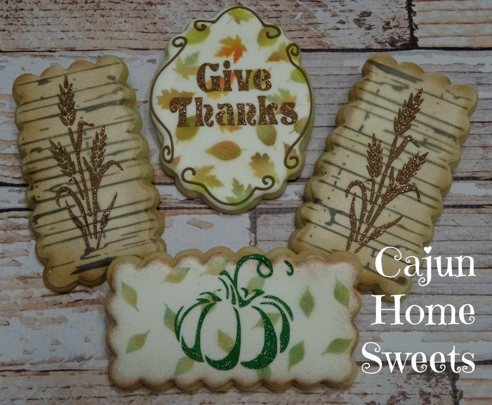 Stenciled Thanksgiving