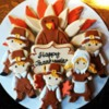 thanksgiving platter - pilgrims and turkey