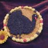 Turkey Silhouette, Embossed Cookie