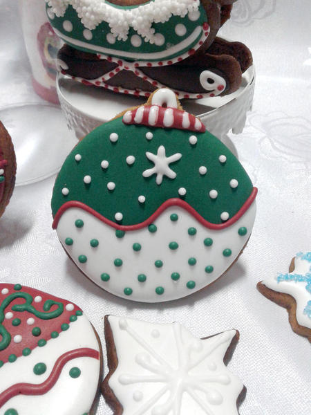 Cookie Bola Natal /Christmas