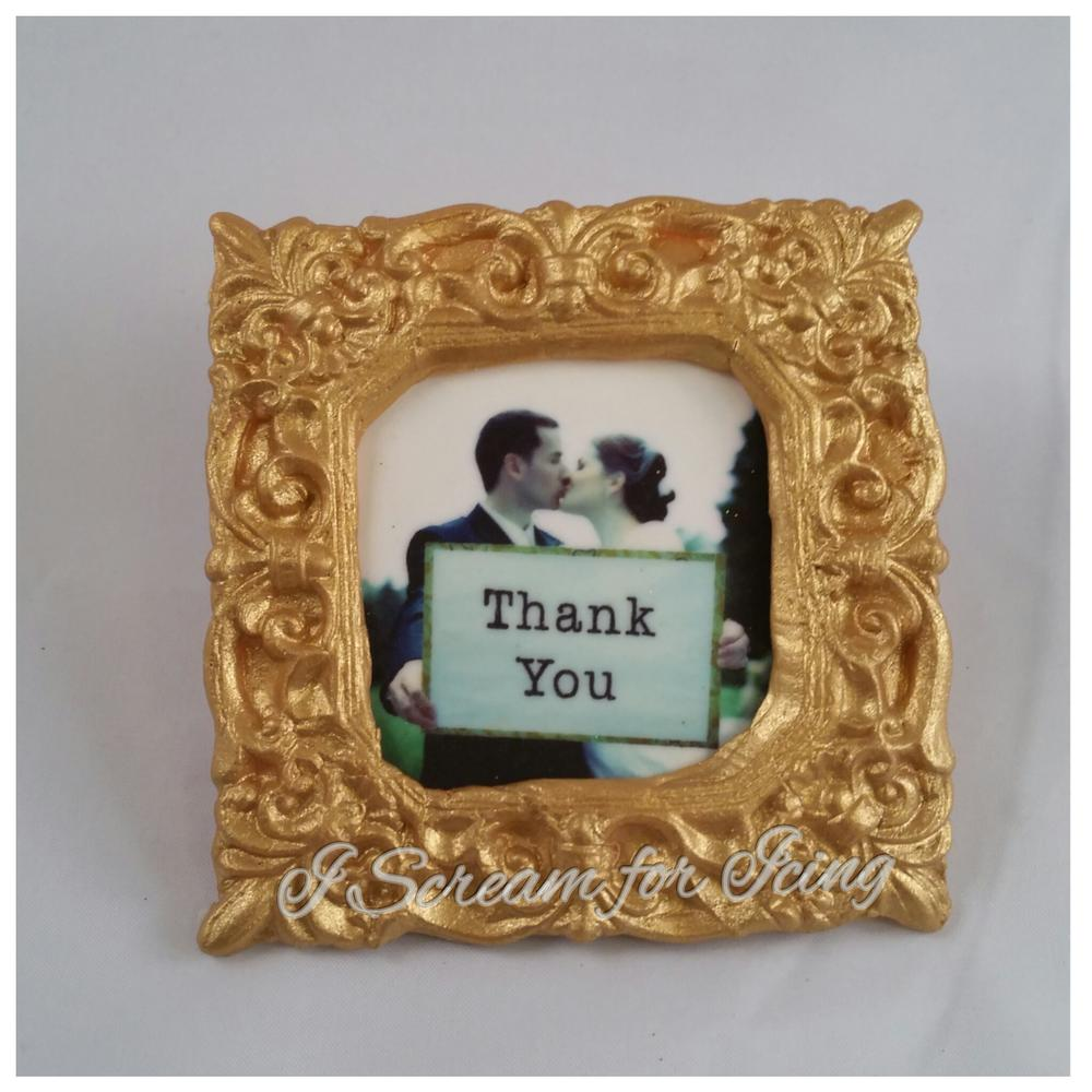 Gold Frame Cookie by I Scream for Icing