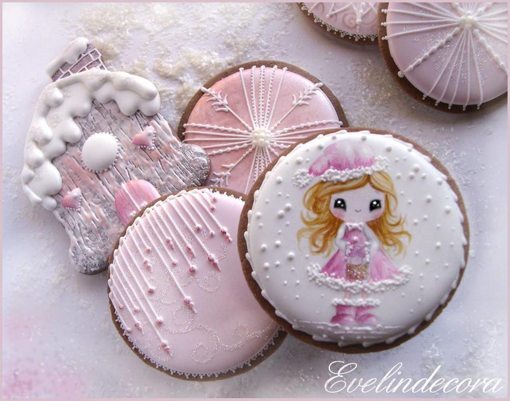 Winter fairy cookies