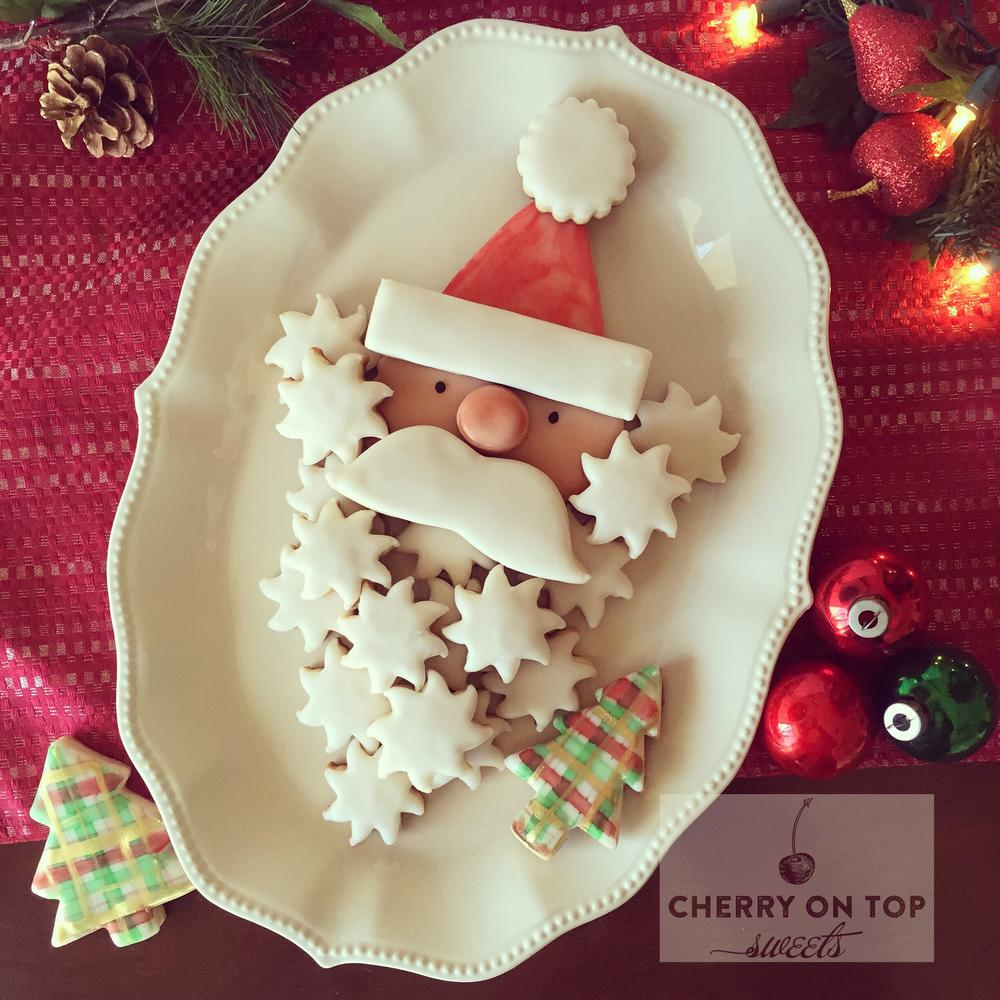 Santa Claus cookies Cherry on Top Sweets