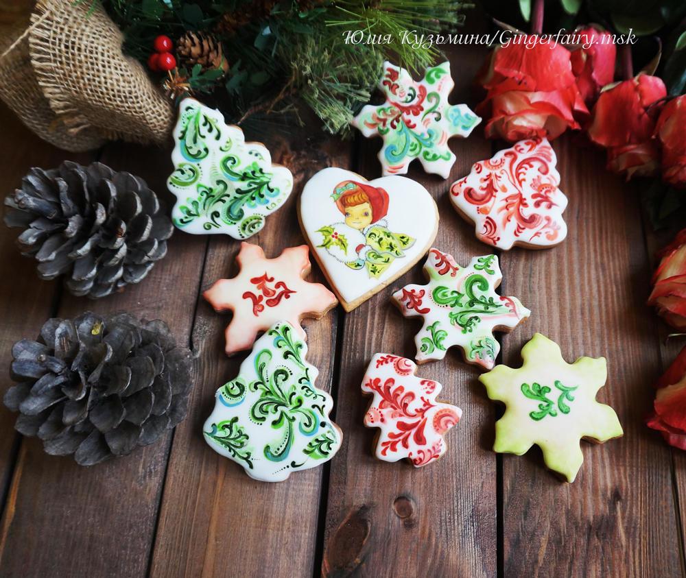Christmas handpainted ornament cookies