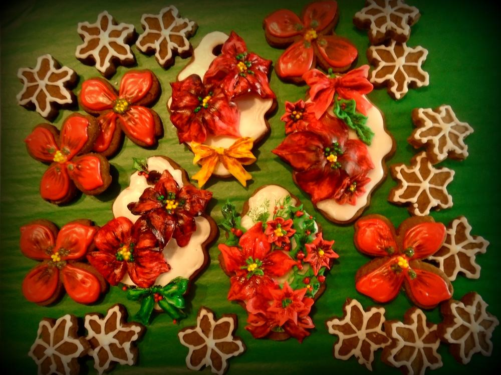 Poinsettias and Snowflakes