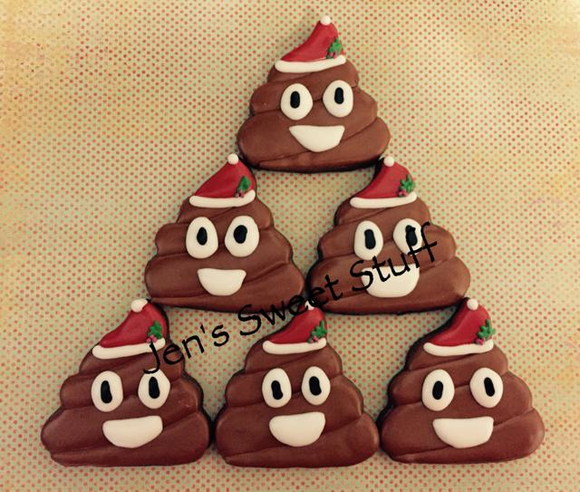 Christmas/Santa Poop Emojis   Cookie Connection