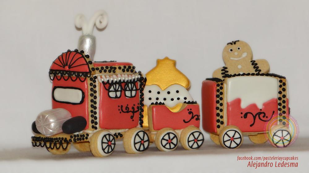 Tren con royal icing