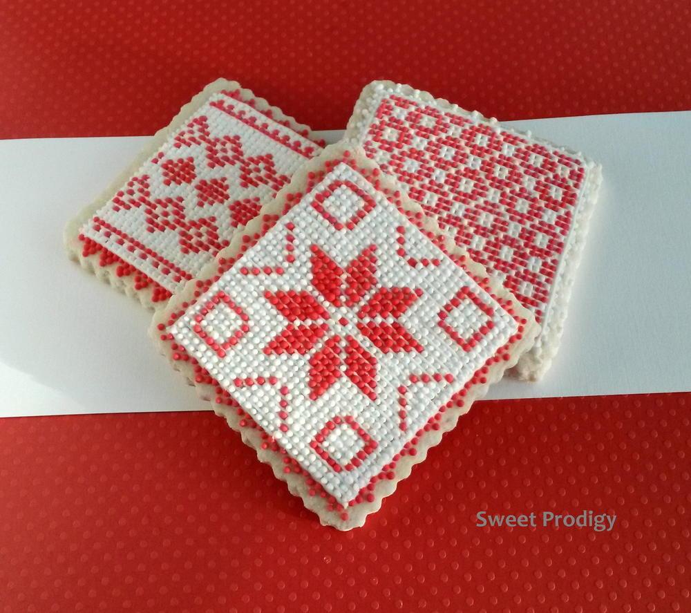 Nordic Needlepoint Cookies
