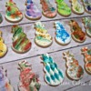 Abstract Snowman cookies by Ahimsa Custom Cakes