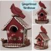 Cardinal Birdhouse Gingerbread